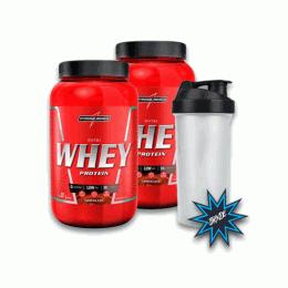 Nutri Whey Protein Pote (907g) 2 unidades + Coqueteleira
